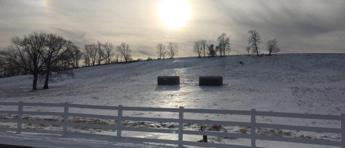 Image showing Horsebarn Hill in wintertime, UCoinn campus.