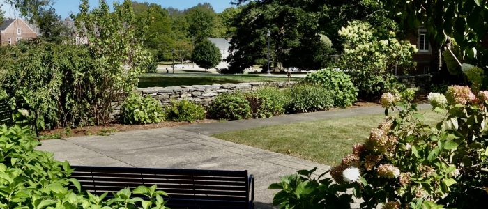 An image of the President's garden on the UConn Storrs Campus