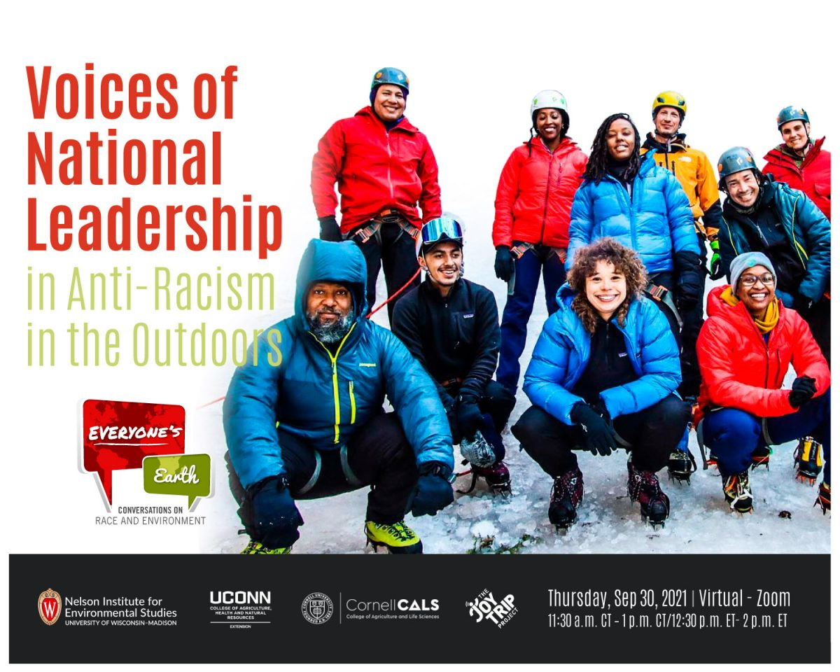 Anti-Racism in the outdoors poster